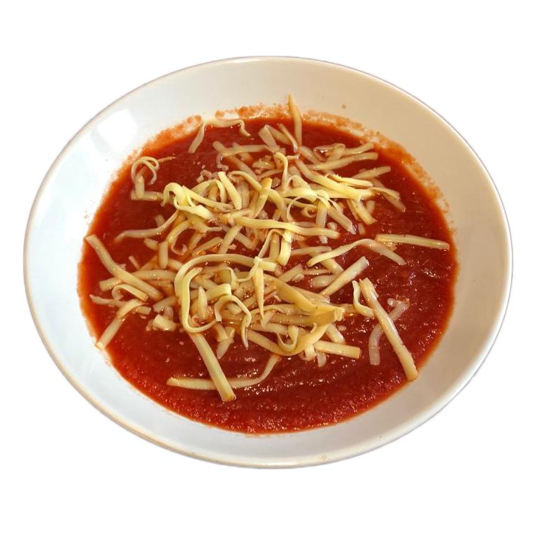 Novinka - Paradajková polievka s údeným syrom